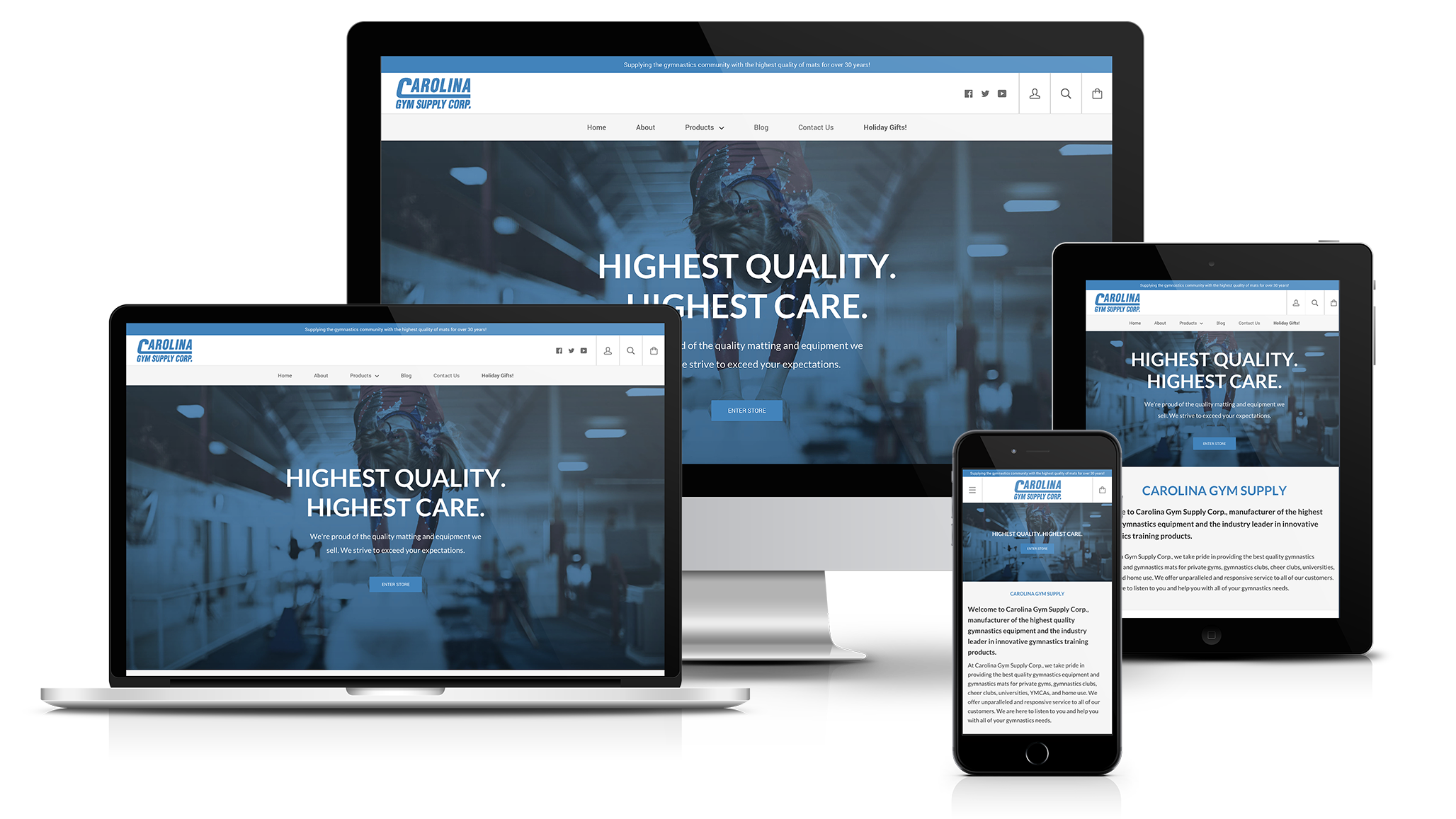 Carolina Gym Web Design