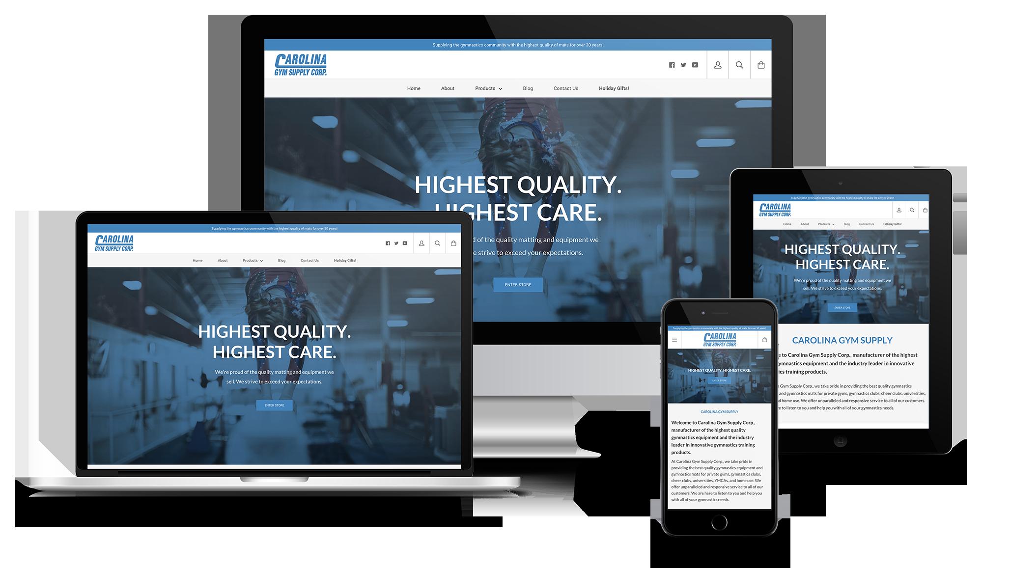 Carolina Gym Web Design