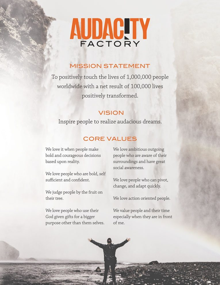 Audacity Factory Vision Poster