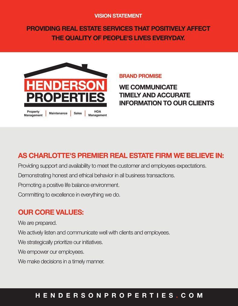 Henderson Properties Vision